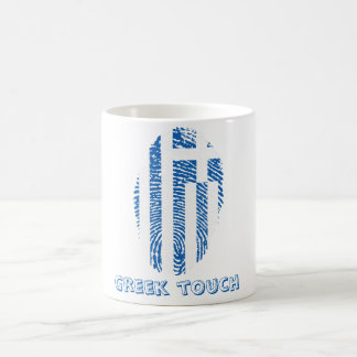 Greek touch fingerprint flag coffee mug