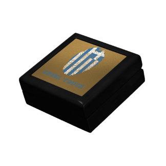 Greek touch fingerprint flag jewelry box