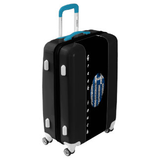 Greek touch fingerprint flag luggage