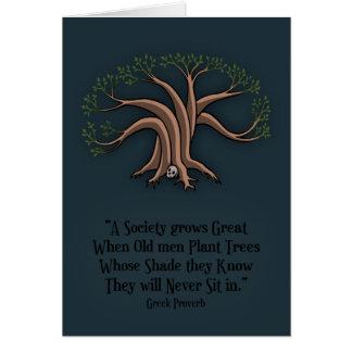 Greek Trees Greeting Card