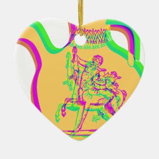 Greek Vase Double-Sided Heart Ceramic Christmas Ornament