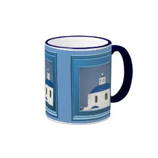 Greek village church ringer coffee mug