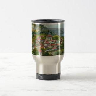 Greek village in Evrytania Travel Mug