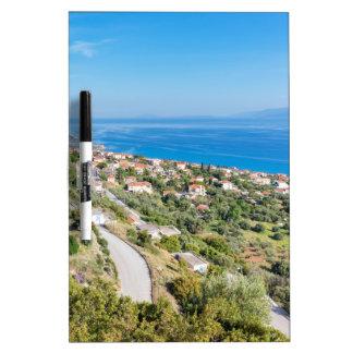 Greek village near sea in Kefalonia Dry-Erase Board