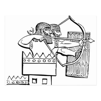 Greek Warrior Art Postcard