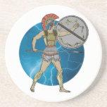 Greek Warrior Beverage Coaster