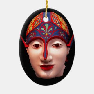 Greek Warrior Head Ceramic Ornament