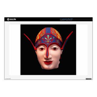 "Greek Warrior Head Decals For 17"" Laptops"