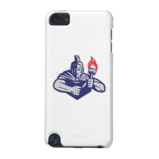 Greek Warrior Holding Flaming Torch Retro iPod Touch 5G Cover