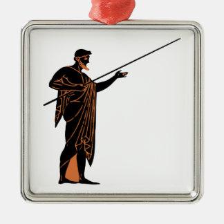 Greek Warrior Metal Ornament