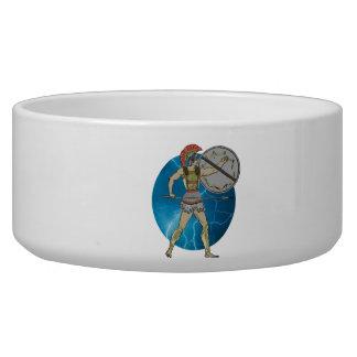 Greek Warrior Pet Bowl (2) sizes