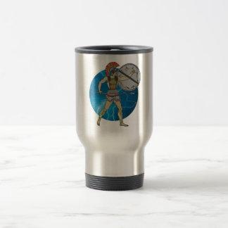 Greek Warrior Travel Mug