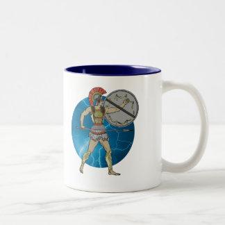 Greek Warrior Two-Tone Coffee Mug