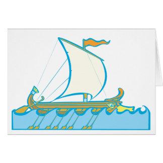 Greek Warship Card
