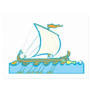 Greek Warship Postcard
