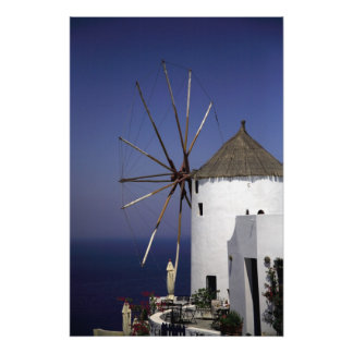Greek Windmill Poster