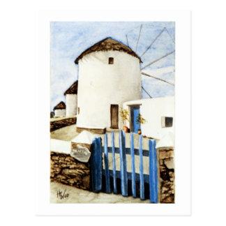 Greek Windmills Postcard