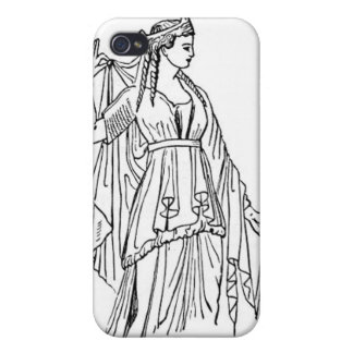 Greek Woman Cover For iPhone 4