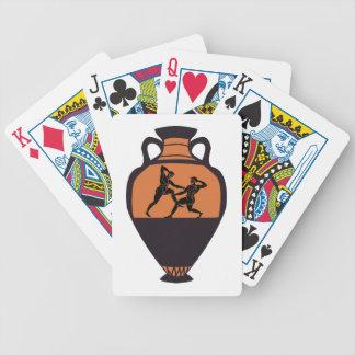 Greek Wrestling Vase Bicycle Playing Cards