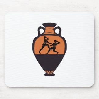 Greek Wrestling Vase Mouse Pad