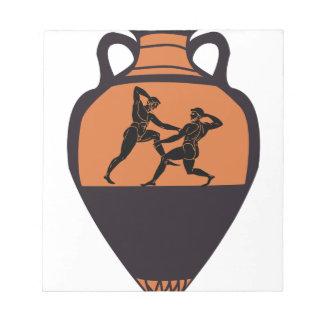 Greek Wrestling Vase Notepad