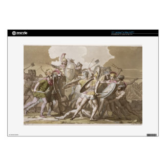 Greeks and Trojans Fight over the Body of Patroclu Laptop Decal