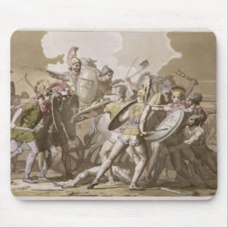 Greeks and Trojans Fight over the Body of Patroclu Mouse Pad