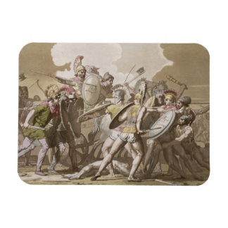 Greeks and Trojans Fight over the Body of Patroclu Rectangular Photo Magnet