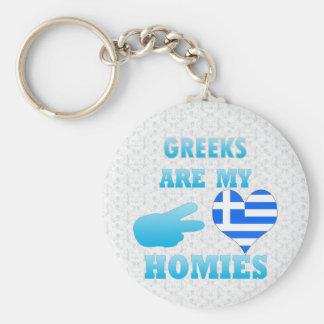 Greeks are my Homies Basic Round Button Keychain