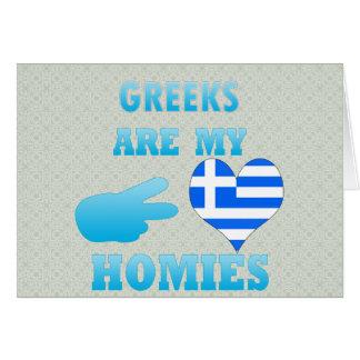 Greeks are my Homies Greeting Card