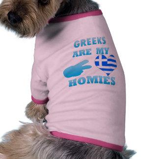 Greeks are my Homies Pet Tee Shirt
