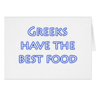 Greeks Have the Best Food Card