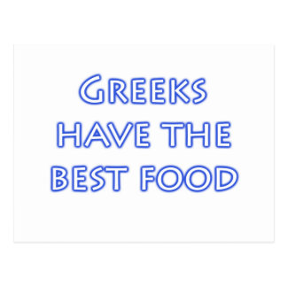 Greeks Have the Best Food Postcard