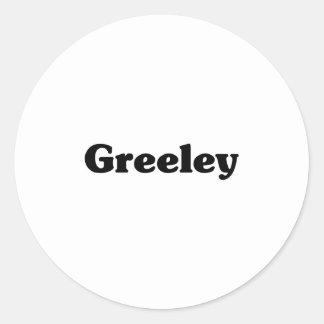 Greeley Classic t shirts Classic Round Sticker