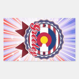 Greeley, CO Rectangular Sticker