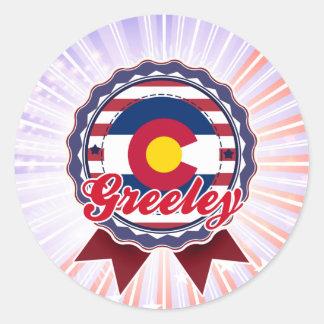 Greeley, CO Classic Round Sticker