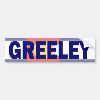 Greeley, Colorado Bumper Sticker Car Bumper Sticker