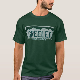 Greeley Colorado guys license plate tee