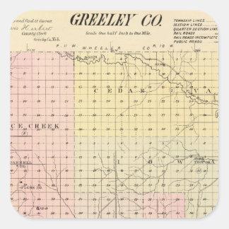 Greeley County, Nebraska Square Sticker
