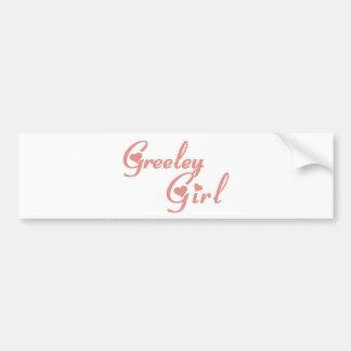 Greeley Girl tee shirts Car Bumper Sticker