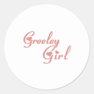 Greeley Girl tee shirts Classic Round Sticker