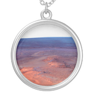 Greeley Haven Cape York Endeavour Crater Mars Silver Plated Necklace