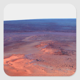 Greeley Haven Cape York Endeavour Crater Mars Square Sticker
