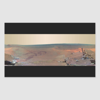 Greeley Haven Panorama Mars Rover Opportunity Rectangular Sticker