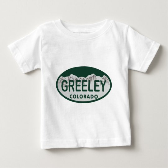 Greeley license oval baby T-Shirt