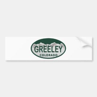 Greeley license oval car bumper sticker