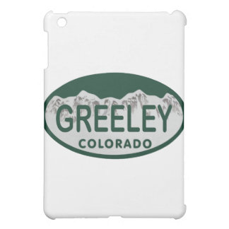 Greeley license oval iPad mini covers