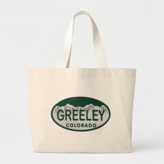 Greeley license oval large tote bag