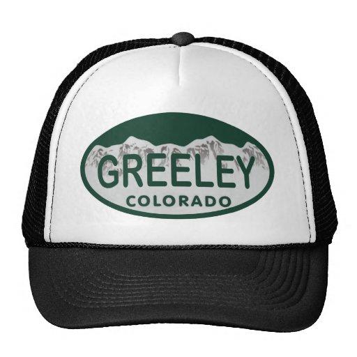 Greeley license oval trucker hat