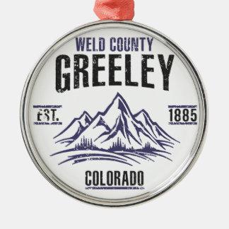Greeley Metal Ornament